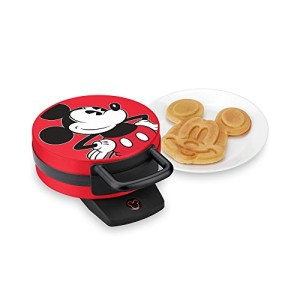 Disney-Mickey-Mouse-Non-Stick-Electric-Waffle-Maker-Red-and-Black-0