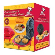 Smart-Planet-WM6S-Peanuts-Snoopy-and-Charlie-Brown-Waffle-Maker-Red-0-1